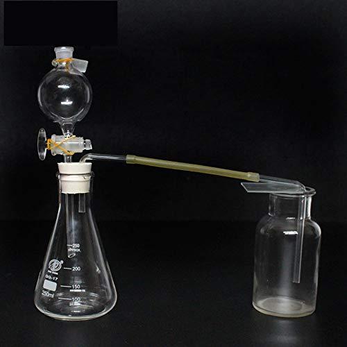 Erlenmeyerkolben aus Borosilikatglas 250ML, Gasgenerator-Scheidetrichter, Doppelloch-Gummistopfen, Lehrmittel, Laborausrüstung für chemische Experimente