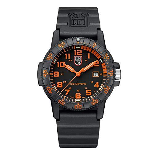 Reloj de Cuarzo Luminox Sea Turtle Giant, Negro/Naranja, Carbono, 44 mm, 10 ATM