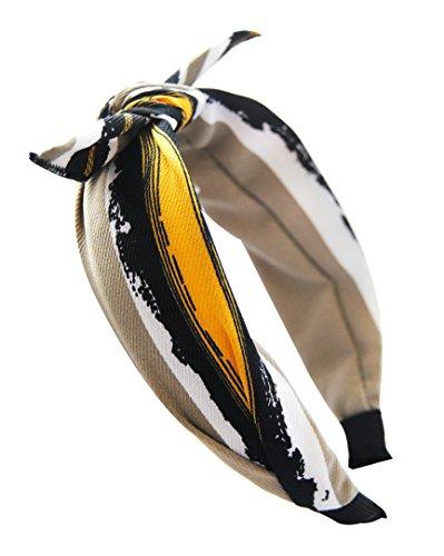 axy HR33 Haarreif Serie 33 Hair Band mit Schleife -Vintage-Wunderschön Stirnband (Motiv 4)