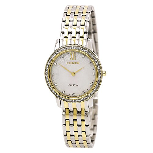 Citizen Silhouette Crystal Eco-Drive Movement MOP Dial Ladies Watch EX1484-57D