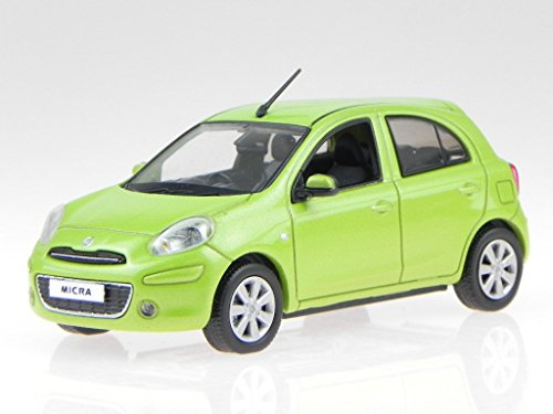 Nissan Micra March 2010 gruen Modellauto jc201 J-Collection 1:43