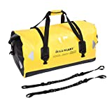 WILD HEART Waterproof Duffel Bag 40L 66L 100L with Welded Seams for Kayaking, Camping, Boating,Motorcycle (100L Yellow Double Bottom with Binding Rope)