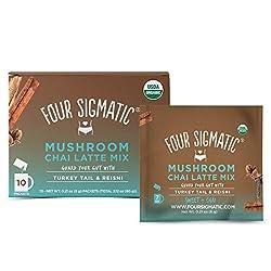 Four Sigmatic Chai Latte, Organic Instant Chai Latte with Turkey Tail, Reishi Mushrooms & Coconut Mi