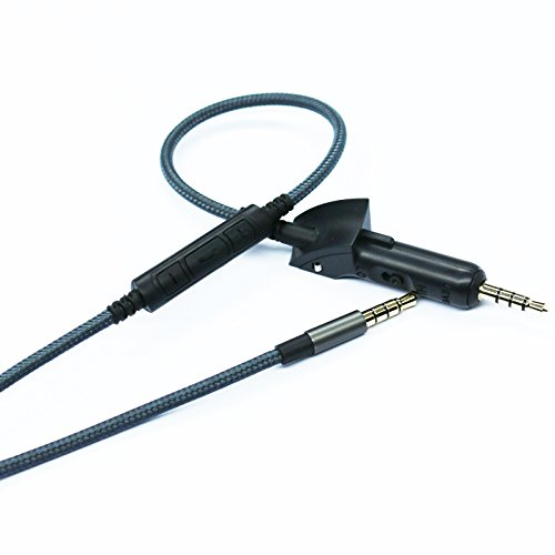 NEW NEOMUSICIA Replacememt Cable Compatible with Bose QuietComfort 15, QC15, QC2 Headphones, Cord Remote Mic Compatible with Apple iPhone and Most of Android Phone Samsung Phone