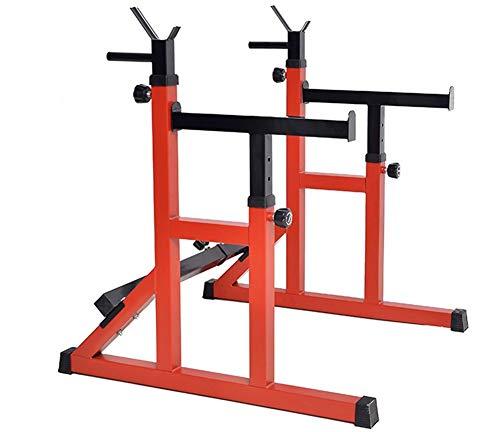 Aparato para Sentadillas, Squat Barbell Rack Hogar Press de Banca Cama Jaula de Sentadillas Ajustables Entrenamiento de Fuerza Equipo de la Aptitud