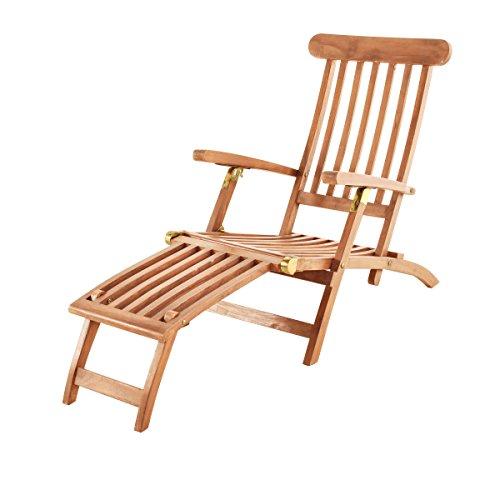 SAM Sonnenliege, Deckchair Puccon, Akazie, teak, 145x60x96 cm, 51948910
