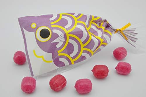 こどもの日 キャンディ 京鯉のぼり 紫色 ブルーベリー飴 7粒入 1袋