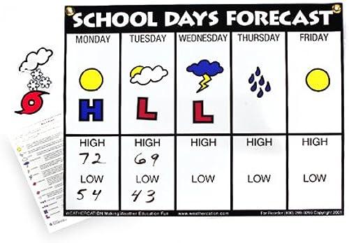 Ahorre 60% de descuento y envío rápido a todo el mundo. American Educational School Days Forecast Wall Wall Wall Chart  artículos de promoción