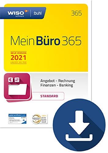 WISO MeinBüro 365 (2021) Standard | Bürosoftware, Rechnung schreiben, Buchhaltung u.v.m. | PC Aktivierungscode per Email