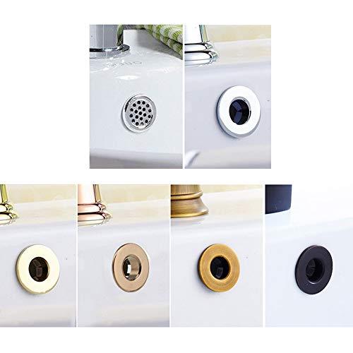 Banbie Überlaufring für Waschbecken aus galvanisiertem Kunststoff
