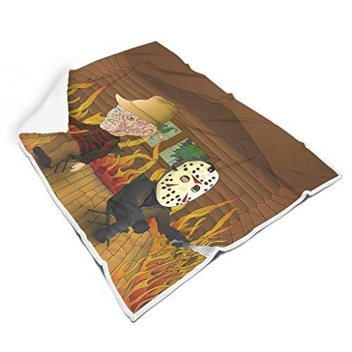 Generic Branded Freddy Krueger - Manta cuadrada cómoda para niños y adultos, cama de camping, tamaño grande y pequeño, regalo para amigos, día de San Valentín, color blanco 152 x 203 cm
