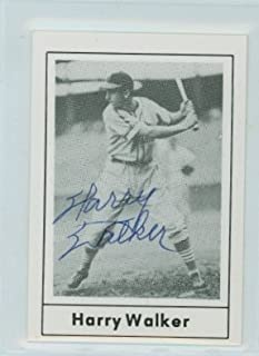 Harry Walker AUTOGRAPH d.99 1978 Grand Slam St. Louis Cardinals