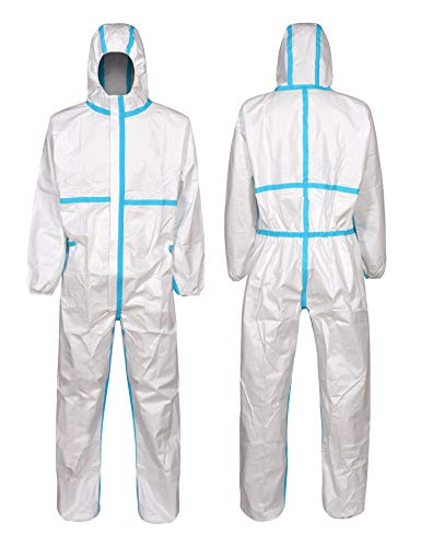 Clylmedical Disposable Protective Coveralls Suit Medical Isolation Gown XS White