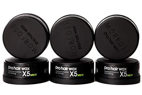 Lot de 6 pots de cire de coiffage Morfose Pro Hair Wax Maximum Control - 150 ml - Noir