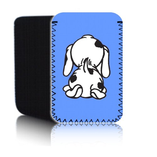 Biz-E-Bee 'Cute Spotty Dog–Baby Blue' (7HD) Schutz Neopren Tasche für Xiaomi Mi Pad 2–Stoßfest und wasserabweisend Abdeckung, Hülle, Tasche,–Schnell Schiff UK