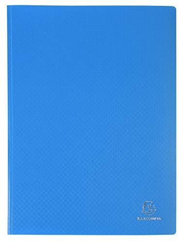 Exacompta 8822E Portalistini Opak in polipropilene opaco con buste interne lisce ad alta trasparenza, 20 buste e 40 facciate. Formato A4 Colore della copertina Blu chiaro