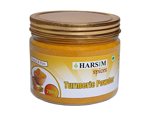 Harsim Spices Pure Natural Turmeric Powder for Bright and Radiant Skin (200gm)