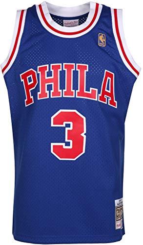 Mitchell & Ness Allen Iverson #3 Philadelphia 76ers 1996-97 Swingman NBA Trikot BLAU, XL