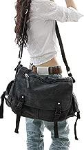 Vintage Canvas Messenger Bag Large Book Laptop Shoulder School Bag Women Men New