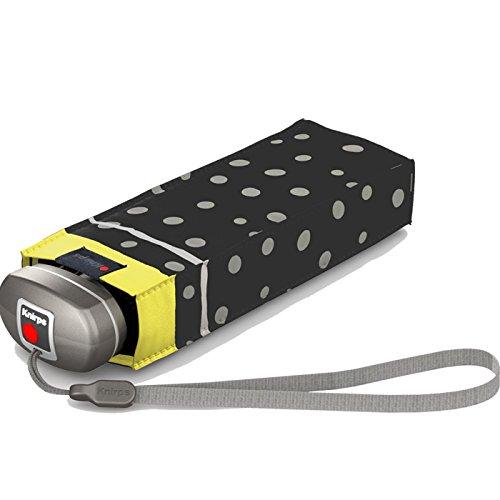 Knirps Compact manuell öffnen/schließen Reise Regenschirm, Flakes Black (schwarz) - 815-499-0