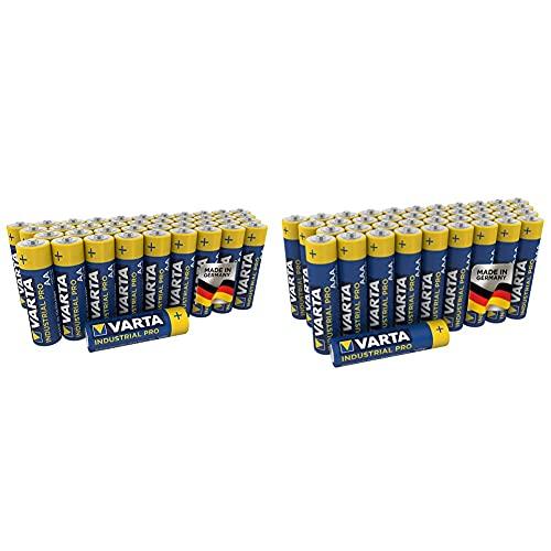 Varta Industrial Batterie (AA Mignon Alkaline Batterien LR6, umweltschonende Verpackung, 40er Pack) & Industrial Batterie AAA Micro Alkaline Batterien LR03-40er Pack, Made in Germany