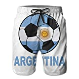 DCVFB Argentine Soccer Hommes Summer Beach Surf Board Shorts Short de Bain à séchage Rapide Casual Loose Sleep Short Pants