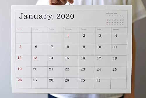 2020年葛西薫 カレンダー(罫線あり)