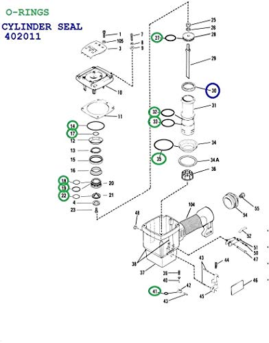 Hakatop O-Ring kits for Paslode Framing Nailer All 5300 Series 5325//80...