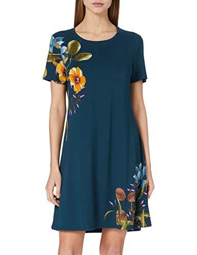 Desigual Vest_Las Vegas Vestido Casual, Azul, M para Mujer