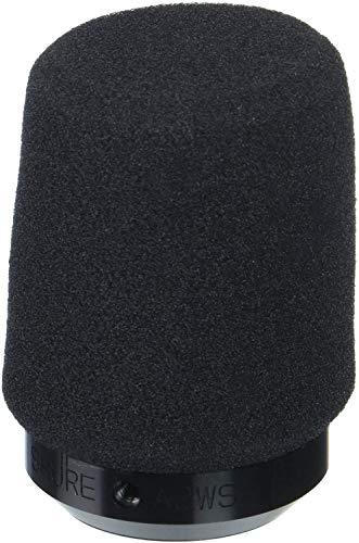 SHURE A2WS-BLK - Parabrisas de micrófono ajustable, Negro