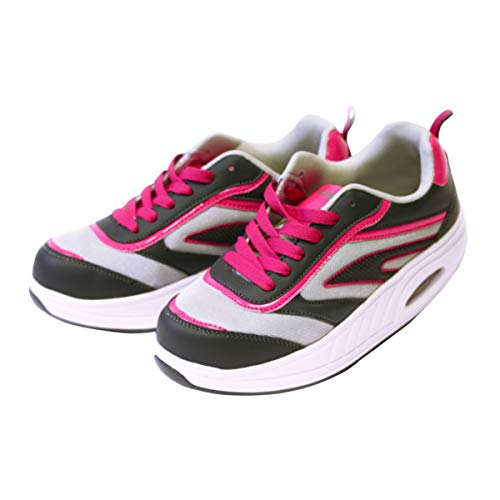 Win Direct 050002386201086, Running Shoe Mujer, Gris/Rosa, 36 EU