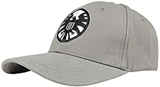 Captain Marvel Cosplay Hat Carol Danvers Cap Grey Embroidery Shield Carol Susan Jane Danvers Cosplay Hat