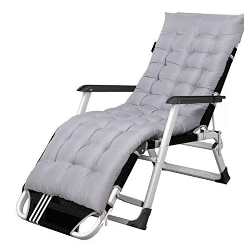 Sonnenliege, Liege Klappbare Schwerelosigkeit Liege Patio Liegestühle mit gepolstertem Kissen |Liegestühle, die hochbelastbar sind |Liegestühle im Freien Lounge Chair für Erwachsene Yard Pool, gra