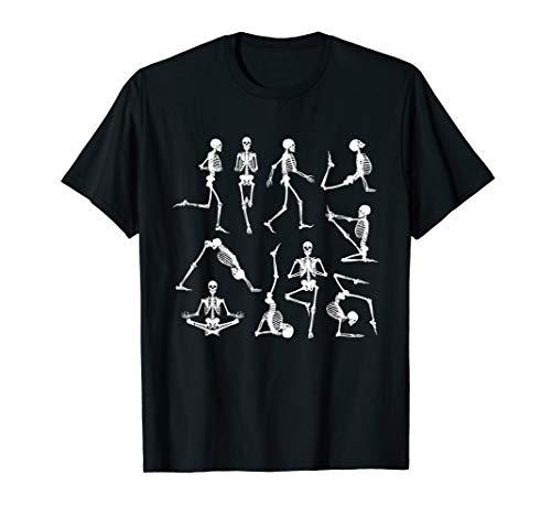 lustige Skelett Yoga Halloween Kostüm Yogi Geschenke T-Shirt