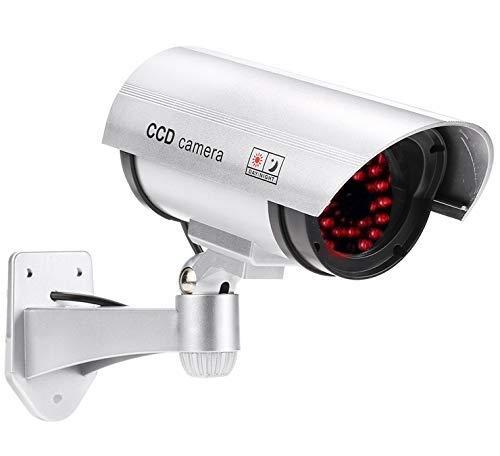 4X Professionelle Überwachungskameras Dummy Outdoor Kameras Dummy Kamera Attrappe mit Objektiv und Blinkled Videoüberwachung Warensicherung