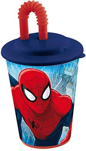 Stor 47323 - Vaso de caña para jugos, diseño Ultimate Spiderman