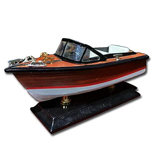 SOFACTY Hölzerne Geschwindigkeit Boot Wasser Yacht Modell Motorboot Schiff Für Kinder Jungen Spielzeug Geschenk 20 * 8.5 * 10 cm