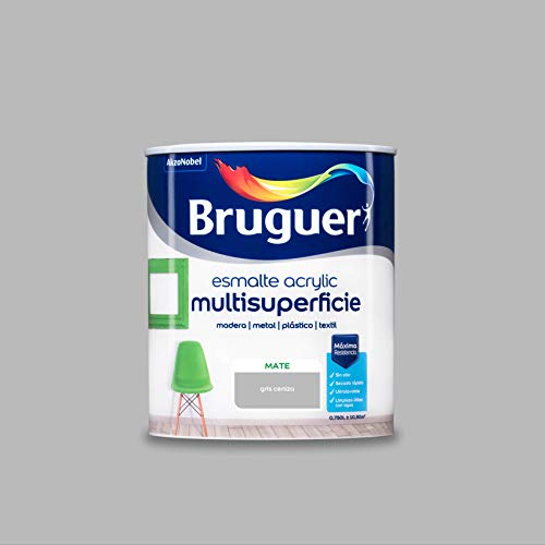 Bruguer Acrylic Multisuperficie Esmalte al agua Mate Gris Ceniza 750 ml