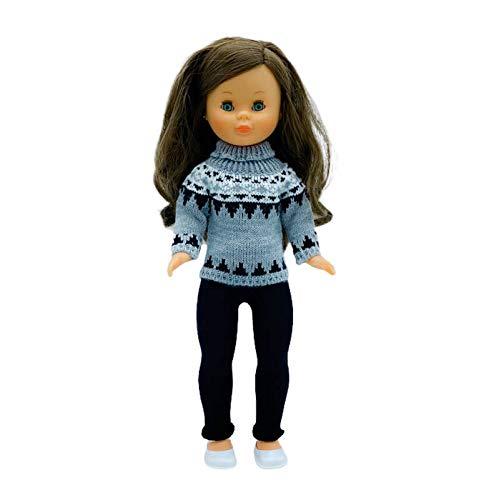 Folk Artesanía Leggins, Jersey, Zapatos y Percha para muñeca Nancy clásica Famosa. Fabricado en España Muñeca no incluida en el Lote. Mod 21-20N (Lote Ropa)