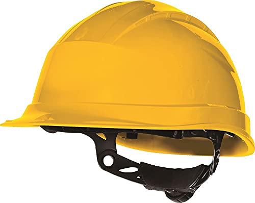Delta plus - Casco obra polipropileno ajuste rotor amarillo