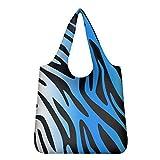 Agroupdream - Bolsas de la compra reutilizables lavables, bolsas de almacenamiento para mujeres, plegables Impresión de leopardo.