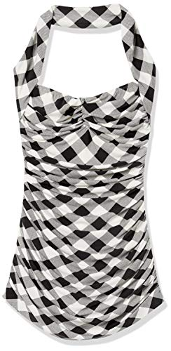 Norma Kamali Women's Swimsuit, Black Buff Check, XXS
