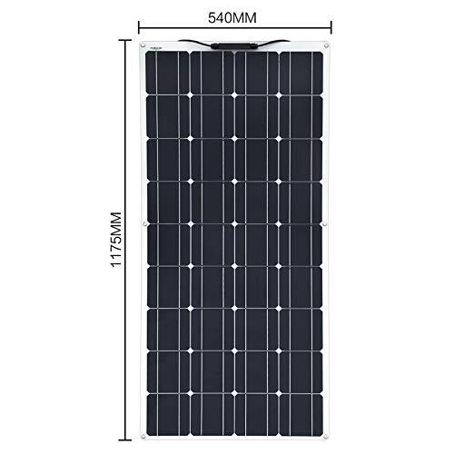 XINPUGUANG 100W 12V Flexible Solar Panel Kit System 18V Photovoltaic Monocrystalline Module 10A Solar Regulator for Caravan Home Roof Car Motorhome Power Charger (100w)