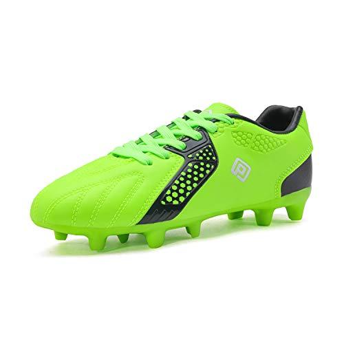 DREAM PAIRS Jungen Mädchen Fußballschuhe Leichte Kinder Atmungsaktive Football Schuhe Neongrün Schwarz Größe 1 US Little Kid / 32 HZ19006K