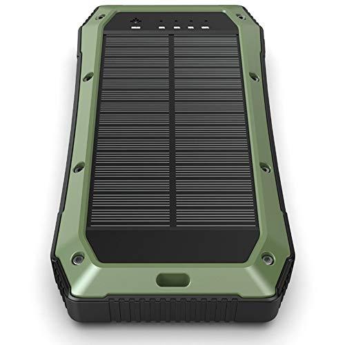 Pomety ES980S Solar Power Bank 20000MAH Carga rápida A Prueba de Agua Cargador inalámbrico Viajes Salvajes Artefacto (Color : Verde)