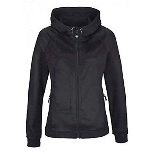 Polarino Damen Fleece Jacke mit Kapuze schwarz Größe L