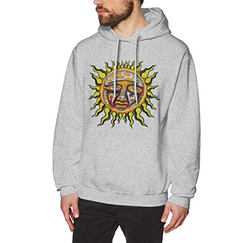 The Story of Sublimes Iconic Sun Logo Men's Hoodie Fashion Fleeces Pullover Casual Hooded Sweatshirt Gray