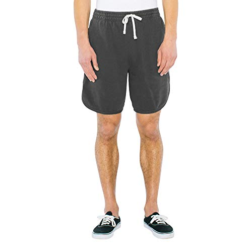 American Apparel Herren French Terry Basketball Legere Shorts, Blassschwarz, Groß