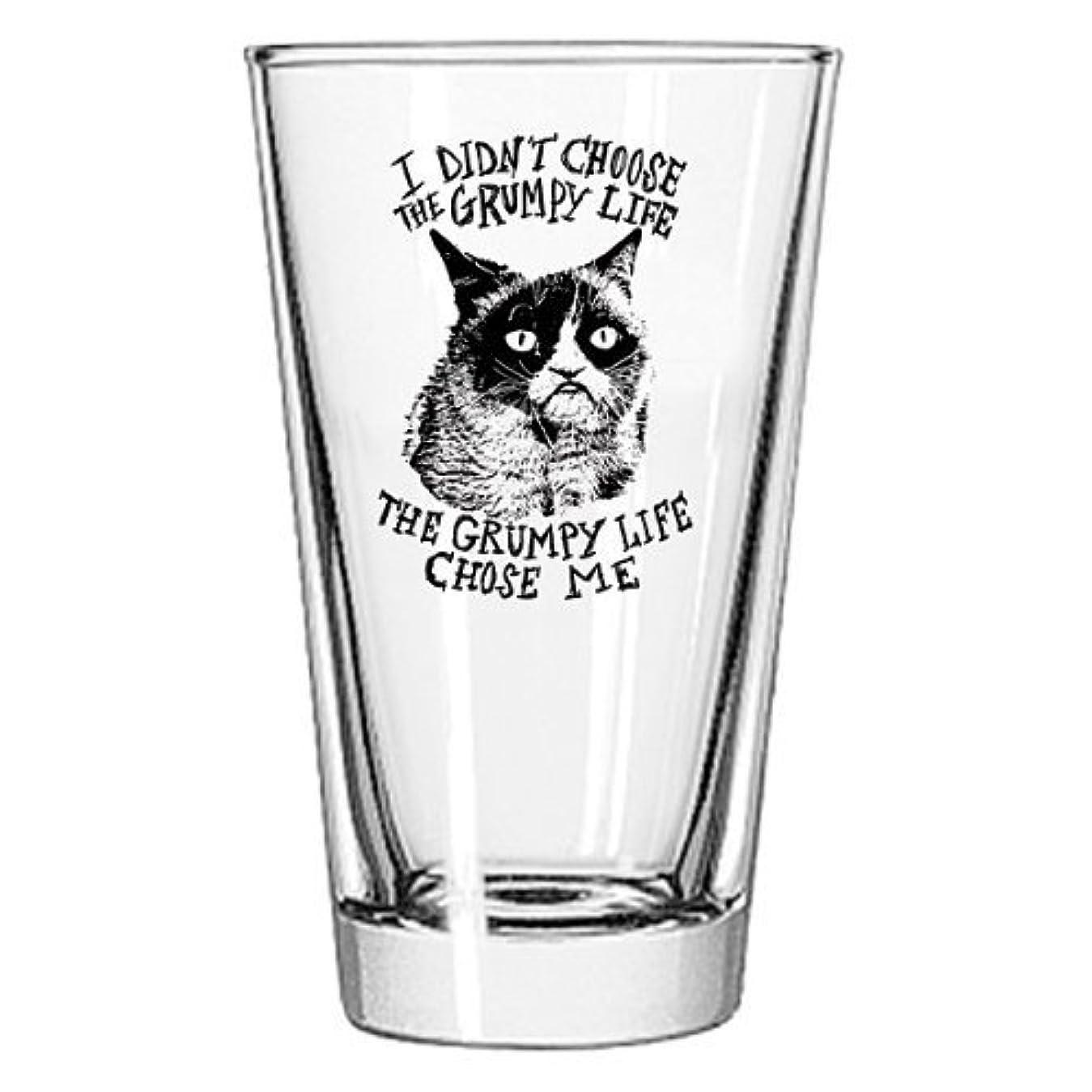 不適切なレバーレプリカGrumpy Cat Pint Glass私は何を選択Grumpy Life