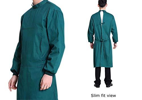 Nanxson Unisex Herren Frauen Operationskittel Lab Medizin Uniform Arbeitskleidung ME0002 (Grün, S) - 5